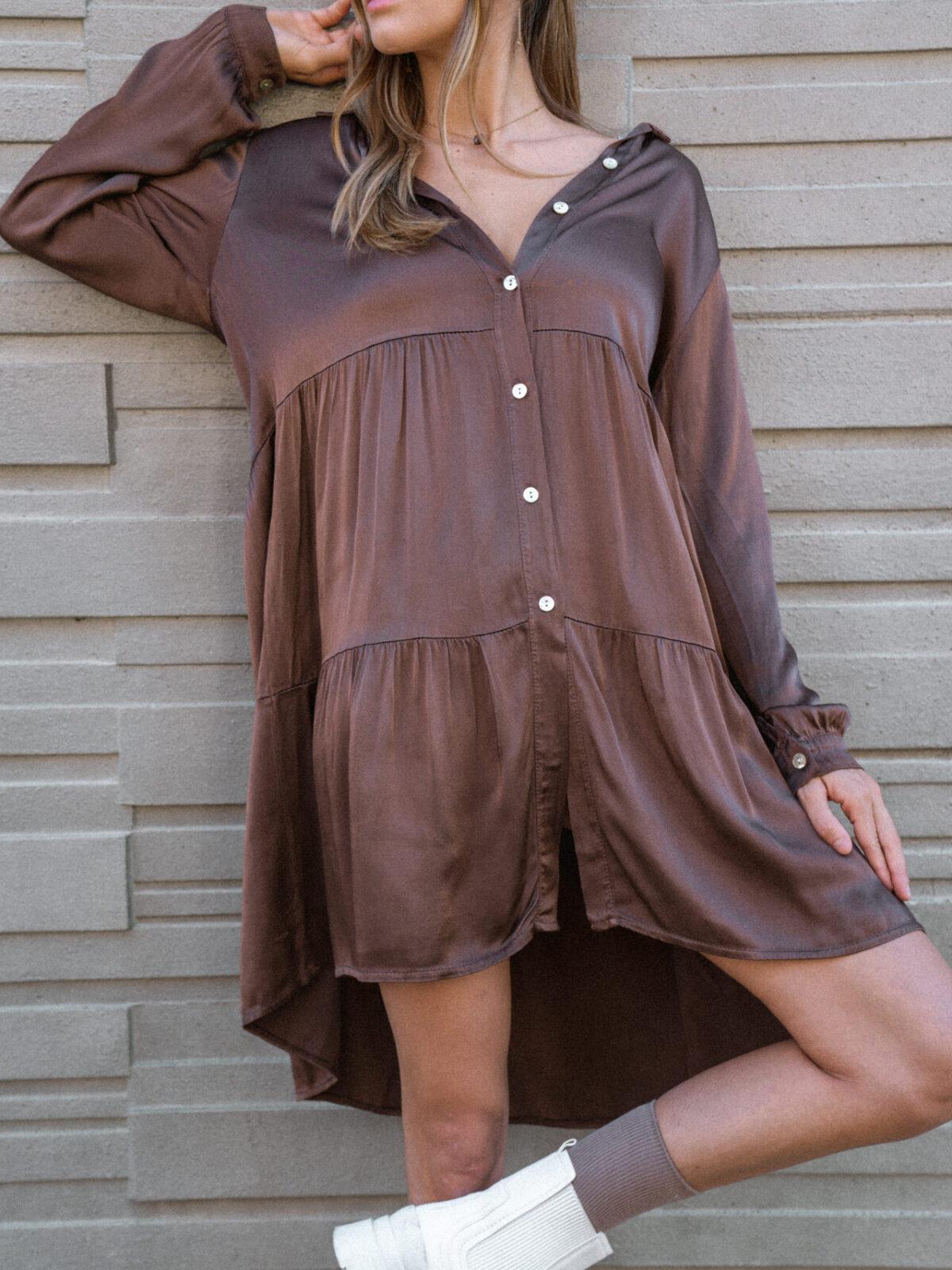 robe-chemise-marron-chocolat-soie-femme-gisette-store (25)